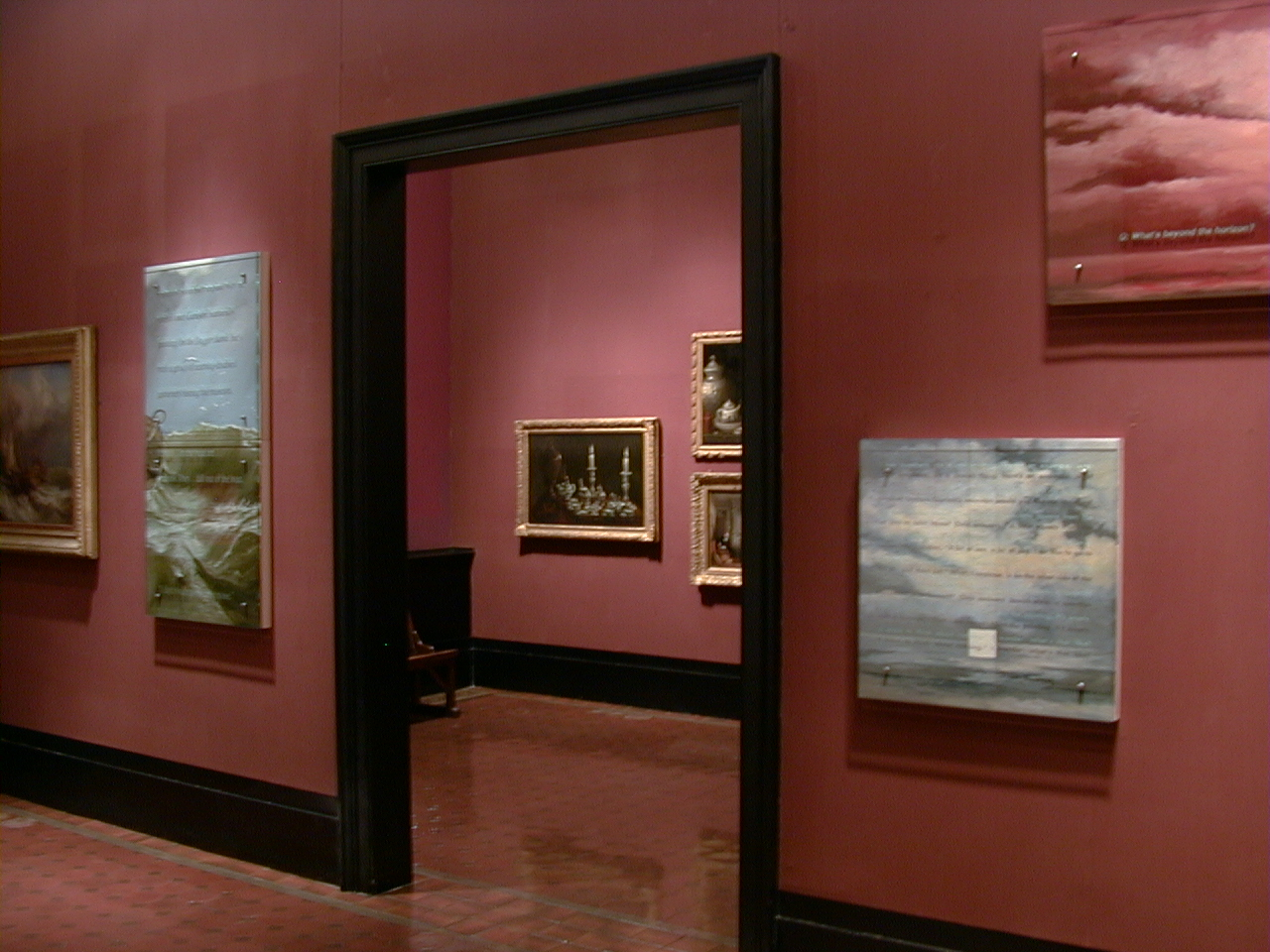 Ken Aptekar, Q&A, V&A, installation view, Victoria and Albert Museum, London