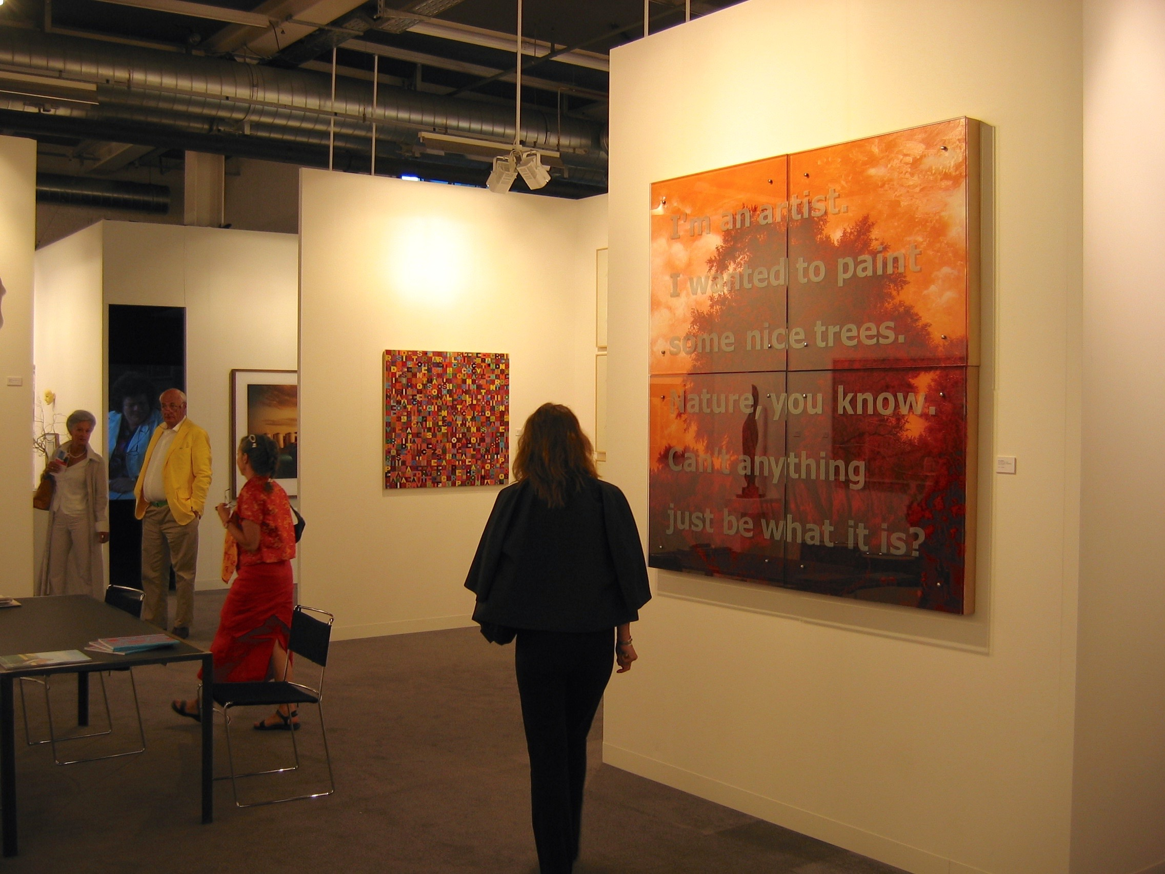 Ken Aptekar at Galerie von Bartha, Basel Art Fair, 2006